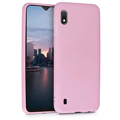 kwmobile Custodia Compatibile con Samsung Galaxy A10 - Cover in Silicone TPU - Back Case per Smartphone - Protezione Gommata Rosa Antico Matt