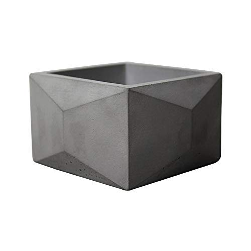 NICOLE Flower Pot Silicone Mold Square with Polygonal Decoration Cement Pot Mould Concrete Planter Making Tools