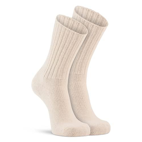 Fox River Classic Socken aus Wolle, mittelschwer, Unisex, 1177 XL 01000 WHITE, elfenbeinfarben, xl
