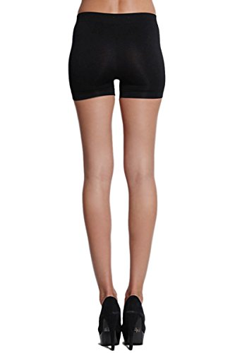 Short Length Seamless Boy Shorts Slipshort Dance Short One Size (One size Fits All, Black)