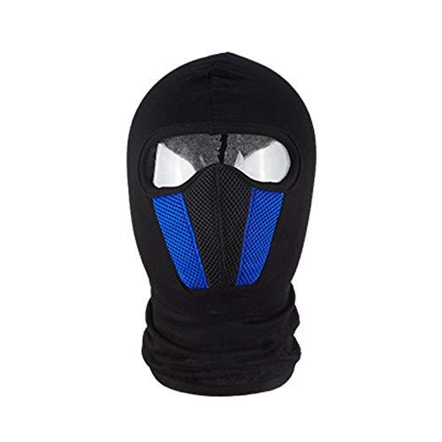 Bivakmuts gezichtsmasker, zwarte kleur balaclava onder helmen bescherming motorfiets tactisch ski-gezichtsmasker, skimasker motormasker voor hardlopen, fietsen wandelen heren