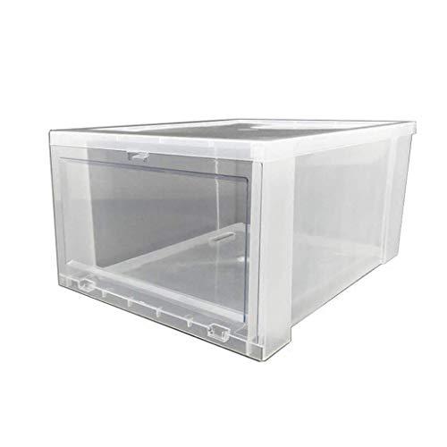 Caja de almacenamiento transparente, Cama de guardarropa Cocina de fondo Caja de baño Caja de zapatos de plástico Caja de almacenamiento multifunción 36 * 28 * 18 cm Shoebox (color: B, Tamaño: 36 * 28
