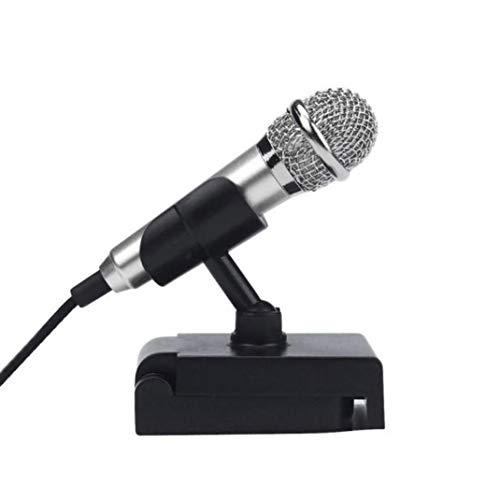 Pato en mini Karaoke Micrófono de condensador con soporte Holder Micrófono Soporte Trípode for Teléfono Computer Mini Canta Micrófono illige räumung venta Cheap Clearance Sale