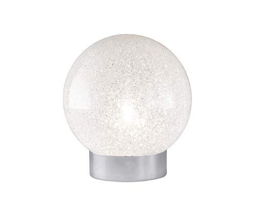 Desing Tischleuchte Kugel Lampenschirm aus Glas in Kristalloptik Ø 15cm G9-Fassung, exklusive Dekole