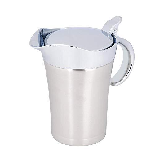 Denash Thermo-Saucenbehälter aus Edelstahl 304, doppelwandiger Saucenbehälter für Saucen, Ketchup, Senf, Sahne, Salatsauce, Milch(750ml)