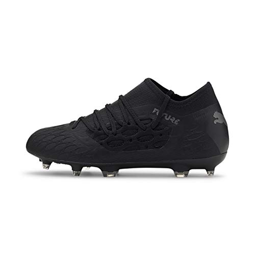 PUMA Future 5.3 Netfit FG/AG Jr, Chaussures de Football Mixte Enfant, Black Asphalt, 36 EU