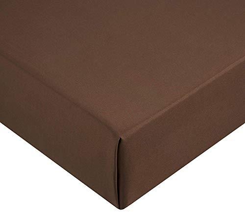 Amazon Basics AB Microfiber, Microfaser, Braun, 160 x 200 x 30 cm