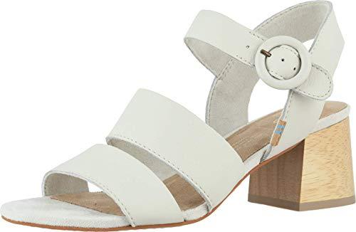 TOMS - Sandalias con tacón para mujer, color blanco, talla 42 EU