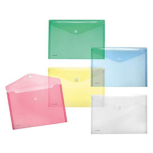 A4quer Transparente Taschen, verschiedene Farben, 10Stück