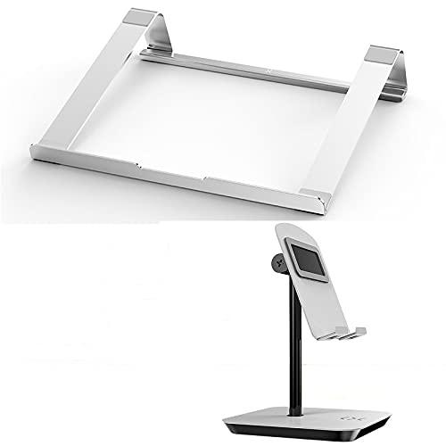 LZYMLA Laptop-Ständer, verstellbare Laptop-Erhöhung mit Handy-Ständer für den Schreibtisch, belüftet, Laptop-, Tablet-Halter, ergonomisches Design für Laptop, Notebook, Tablet, 14-17 Zoll
