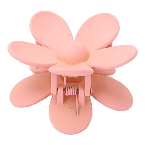 YUYTE 4 Farben Haargreifer Clips, Kunststoff Klaue Clips rutschfest Haarspangen, Blumenförmiges Rutschfestes Haarnadelzubehör, Große Haarspangen Haar Accessoires für Frauen Damen(Fleischmahlzeit)