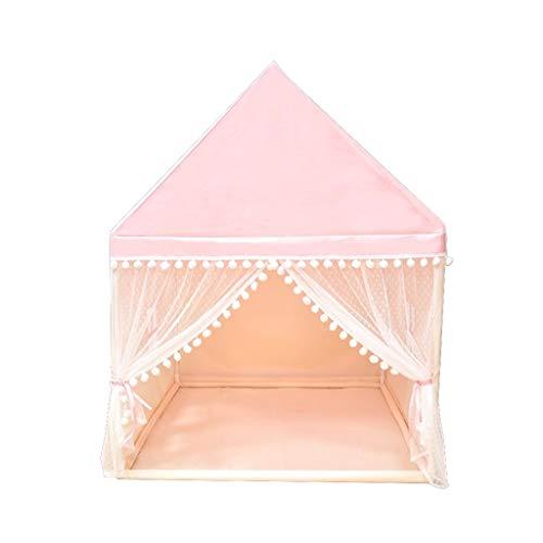 CSQ Dormir Hut for el niño, Tienda de campaña Pink Dreamy Princess House Casa en Forma de Juguete de Regalo de Muchacha for 3 Años de Edad, de 5 años, 8 años de Edad Casa de Juegos para niños