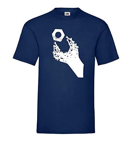 Maulschlüssel und Mutter Männer T-Shirt Navy 3XL - shirt84.de