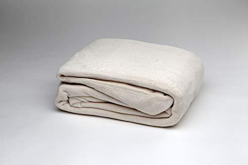 Burrito Blanco Sábana Bajera Ajustable de Coralina para Cama Individual de 90x190 cm hasta 90x200 cm, Color Beige