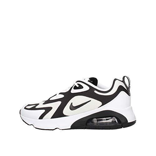 Nike Air Max 200, Chaussures de Trail Homme, Multicolore (White/Black-Anthracite 104), 41 EU