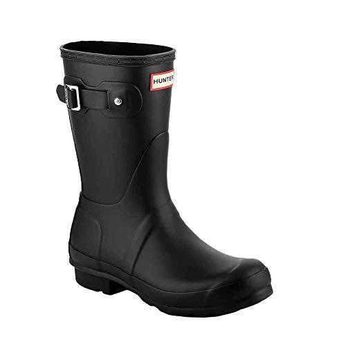 [ハンター] レインブーツ 長靴 ブーツ レディース WOMENS ORIGINAL SHORT BOOT WFS1000RMA ブラック UK4-23.0cm (hnt001) [並行輸入品]