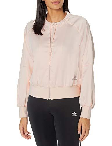 adidas Chaqueta de mujer Glam On Bomber, color rosa, 3X