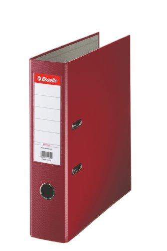 Esselte Essentials–Archivador (A4, con palanca, capacidad: 350hojas, color granate A4