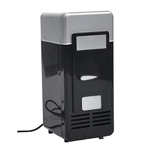 LITINGT Mini Nevera con congelador, pequeña y Barata, Mini Nevera portátil para Dormitorio al Aire Libre, USB Coca Cola, Mini Nevera (Negro)