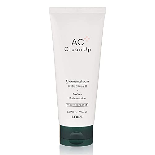 ETUDE HOUSE AC Clean Up Daily Cleansing Foam 150ml (Renewal)   Amino Acid Base Gentle Foaming Cleanser Treatment for Acne Prone Skin   PH Balancing   Korean Face Wash Skin Care