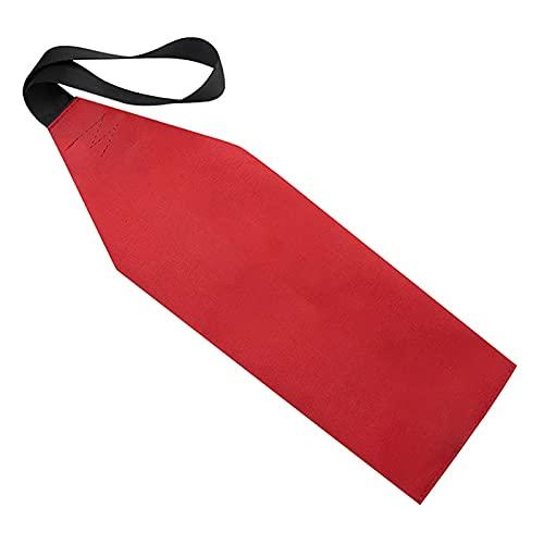 Bandera de seguridad para kayak, bandera de canoa, bandera de remolque de viaje en kayak, bandera roja con tira reflectante para viajes al aire libre
