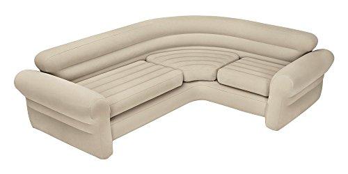 aufblasbare Eck-Couch Sofa 257x203x76cm wasserfest 2-in-1 Ventil