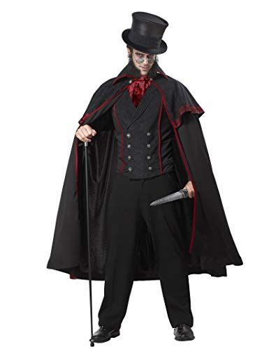 California Costumes 1132 JACK THE RIPPER Scary Adult-Sized Costume, Black,...