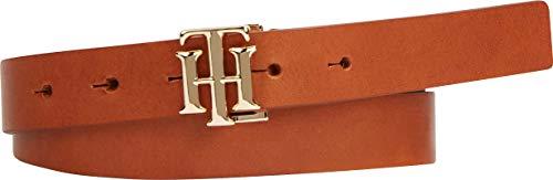 Tommy Hilfiger Damen TH LOGO 2.5 Gürtel, Cognac, 95 cm