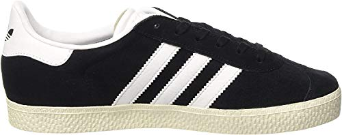 adidas Gazelle, Zapatillas Unisex Niños, Negro (Core Black/Ftwr White/Gold Metallic), 34 EU