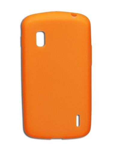 Luxburg®® In-Colour Design Schutzhülle für LG Google Nexus 4 E960 in Farbe Orange, Hülle Hülle aus Silikon