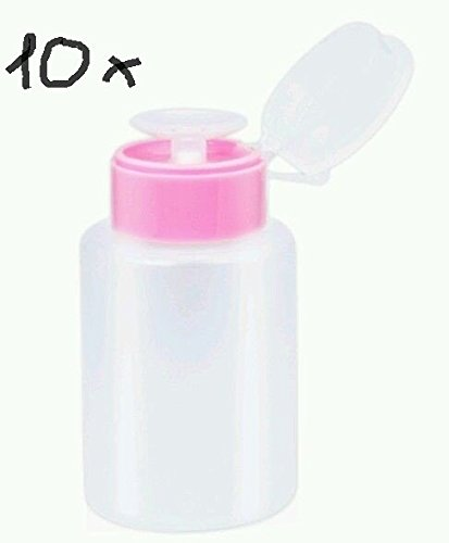 NEW Nail Art 10 x Distributeur Bouteille vide sans liquide Pompe pour Cleaner ou dissolvant