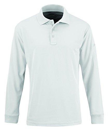 Propper Uniform Polo à Manches Longues pour Homme Blanc Taille S