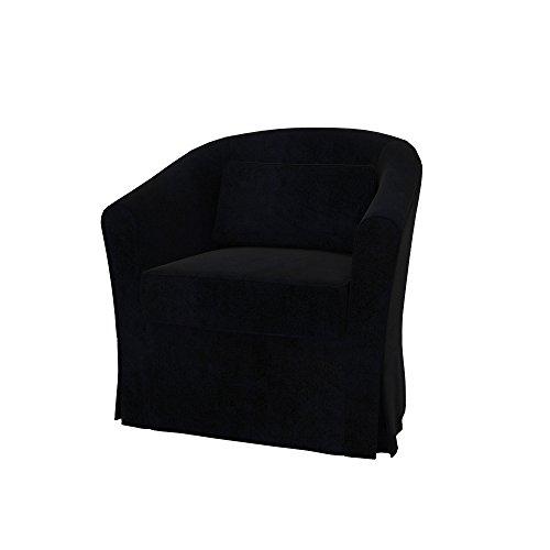 Soferia - Bezug fur IKEA EKTORP TULLSTA Sessel, Eco Leather Black