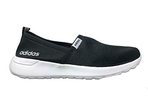 adidas Women's Cloudfoam Lite Racer Slip On, Black/White, 7.5