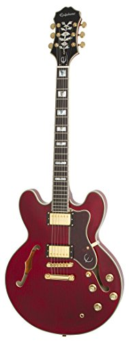 Epiphone SHERATON-II PRO Thin-line, Semi-Hollowbody Electric Guitar with Coil Tapping, Wine Red