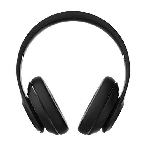 Auriculares con micrófono y dirección de Bluetooth, Full Touch Reducción de Ruido Hi-Fi con Auriculares de Deportes inalámbricos Subwoofer Auriculares de música estéreo, Negro (Color : Blue)