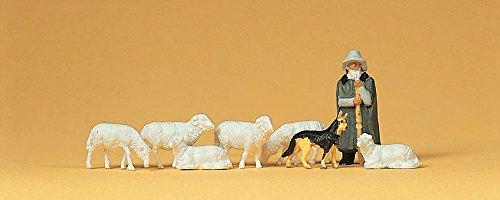 プライザー 羊飼いと羊と犬 塗装済完成品 HO(1/87) 14160
