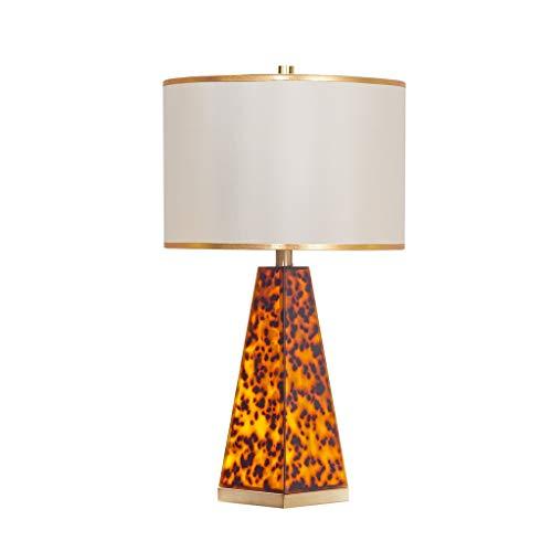 Iluminación Lámpara de mesa de noche tradicional de lámparas de sombra tono de bronce for el dormitorio de la sala de la familia de noche Mesilla de noche de leopardo Mesilla Lamparas