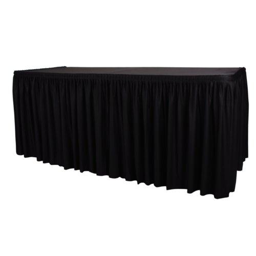 Dessus de table Housse de Noir et Plinthe – Plisse Style 730 x 1820 X 750 mm plissé