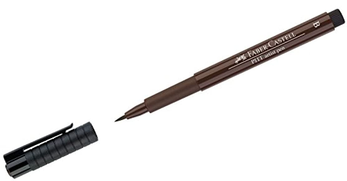 Faber-Castell Pitt Artist Brush Pen, Brush Tipped, Sepia (175)
