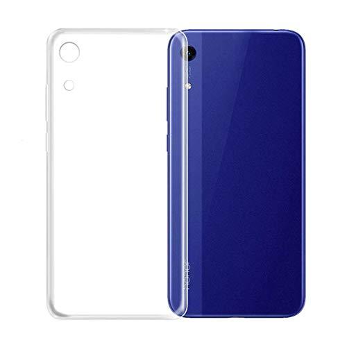 König Design Handy-Hülle Kompatibel mit Huawei Honor Play 8A transparente Schutz-Hülle Transparent Silikon Slim Hülle Plastik Cover durchsichtig