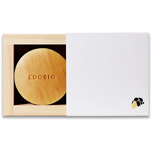 洗顔 せっけん EDOBIO(エドビオ) モイスチャライジング スフレ ソープ 70g 化粧箱 枡 泡立てネット 付き 無香料 合成界面活性剤不使用