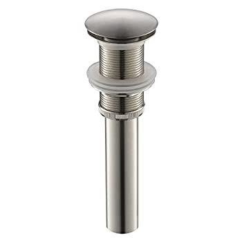 Yodel Bathroom Sink Drain Stopper Pop up Drain Without Overflow for Vessel Sink Lavatory Vanity,Brushed Nickel