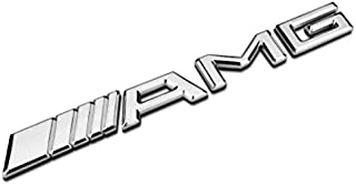 3D Car Logo Sticker Emblem Badge for Mercedes AMG Silver