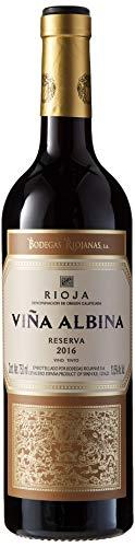 Bodegas Riojanas - Vino viña albina reserva, 13.5º, Cosecha 2016, Pack de 1 x 75cl