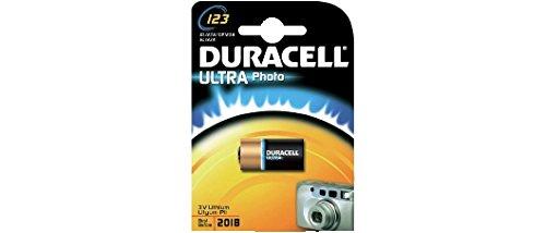 DURACELL PILE bouton lithium ULTRA M3 Photo Cod. 39,9223,15 (modèle 123 ULTRA M3 (Photo) CR123 Lot : 1 pcsBlister-Tension : 3 V-Capacité : 1600mAh-Dimensions : x D H.34,5 .17,0 mm-Poids : 17gr