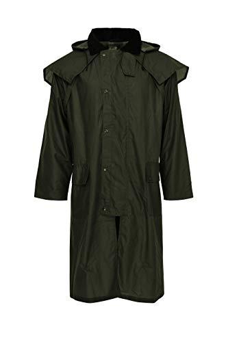 APPALERO Warburton Oilskin Oil Skin - Cappotto impermeabile con cappuccio, unisex, colore verde verde XL