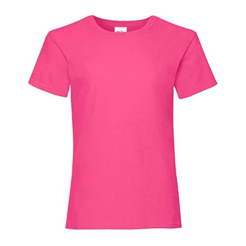 Fruit of the Loom Girls, T-shirt da donna Pink 3-4 Anni