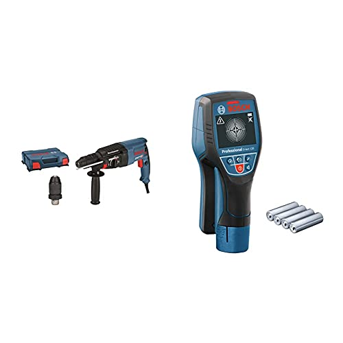 Bosch Professional Martillo perforador combinado GBH 2-26 F + Bosch Professional Detector de pared D-tect 120