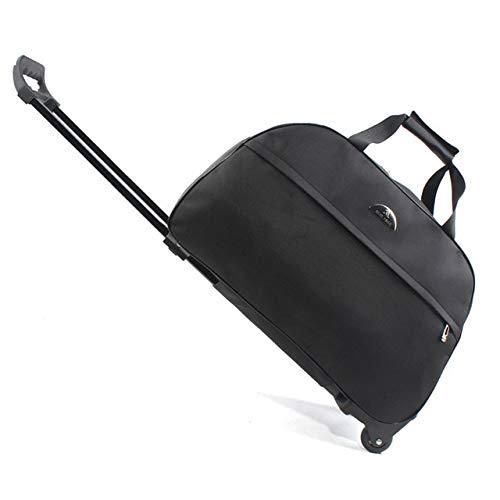 Mdsfe Oxford Rolling Luggage Bag Reisekoffer mit Rädern Wasserdichtes Trolley-Gepäck für Männer/Frauen Handgepäck - Schwarz, M.